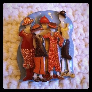 Group of Girl Friends Woman Pins by Lucinda